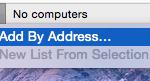 """Cliquez sur """"Add By Address..."""""""